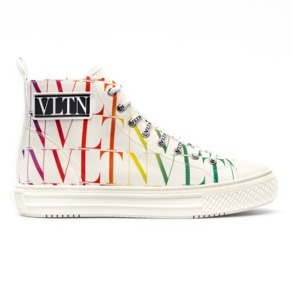 High white sneakers with multicolored logo                                                                                                            Valentino garavani VY2S0D51 front