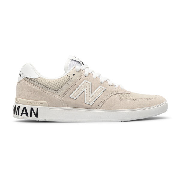 Sneakers beige scamosciate con stampa logo                                                                                                            Junya Watanabe WGK103051 retro