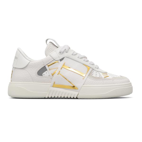 White sneakers with golden logo                                                                                                                       Valentino Garavani WW0S0V66 back