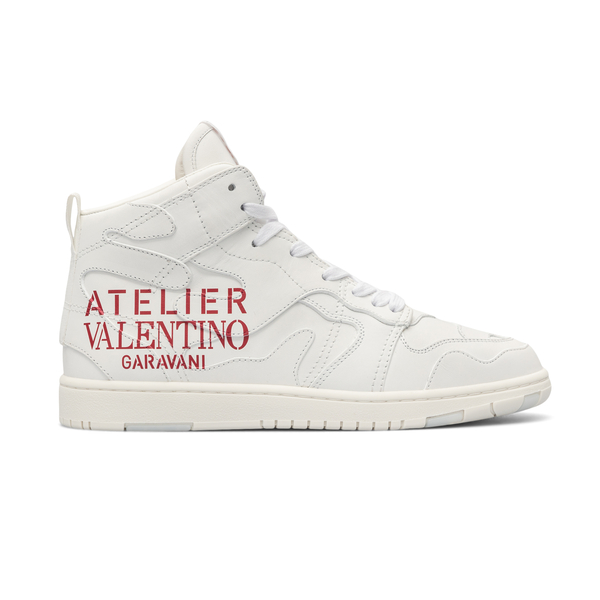 High sneakers with logo print                                                                                                                         Valentino Garavani WW2S0CQ4 back
