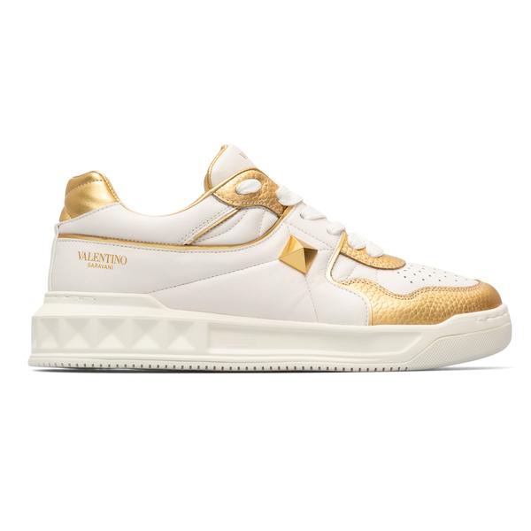 White and gold sneakers                                                                                                                               Valentino Garavani WY0S0E71 back