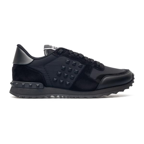 Black sneakers with rubber studs                                                                                                                      Valentino Garavani WY2S0748 back