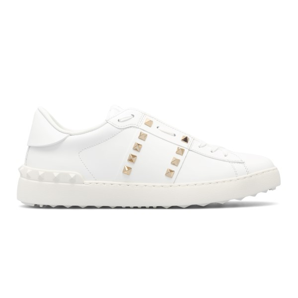 White sneakers with gold studs                                                                                                                        Valentino Garavani WY2S0931 back
