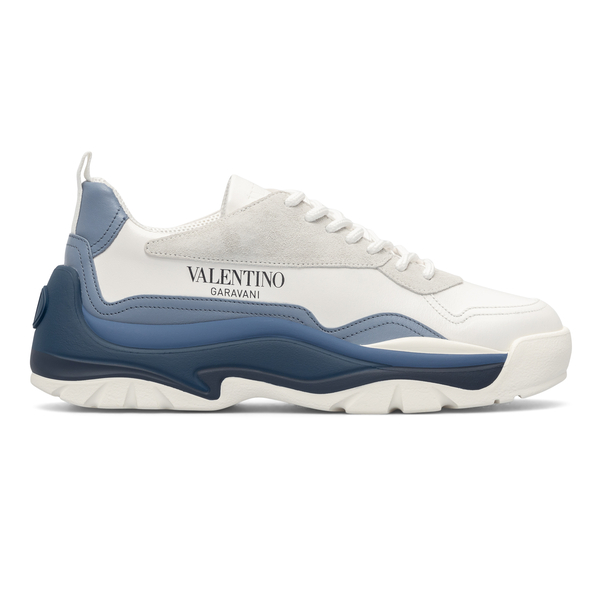 White sneakers with blue details                                                                                                                      Valentino Garavani WY2S0B17 back