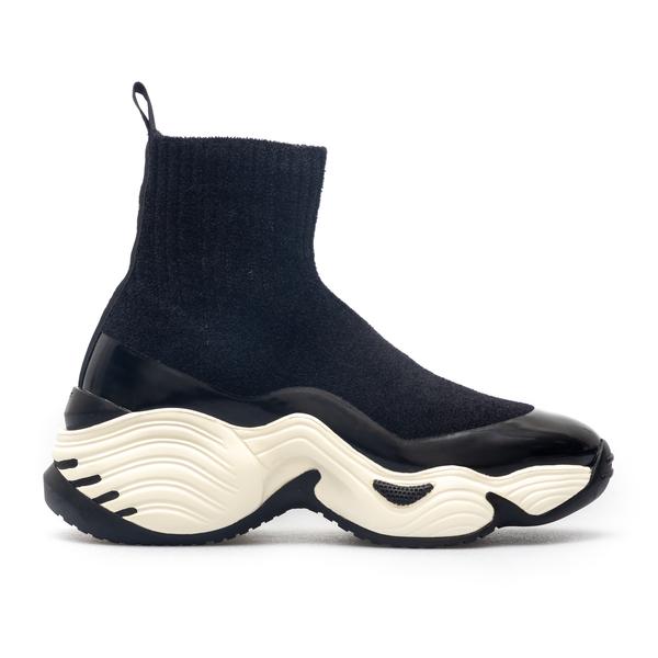 Sneakers con gambale in maglia                                                                                                                        Emporio Armani X3Z049 retro