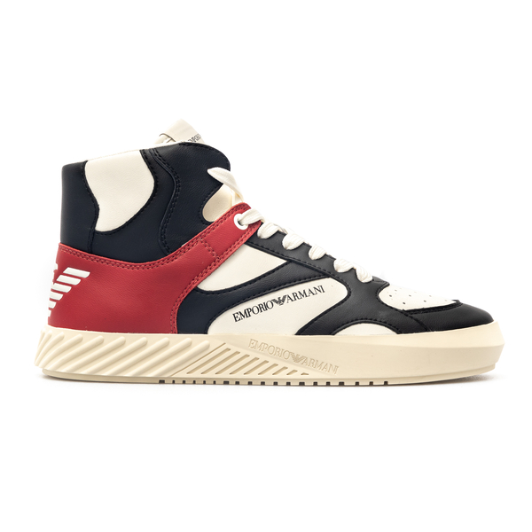 Sneakers with leather details                                                                                                                         Emporio Armani X4Z100 back