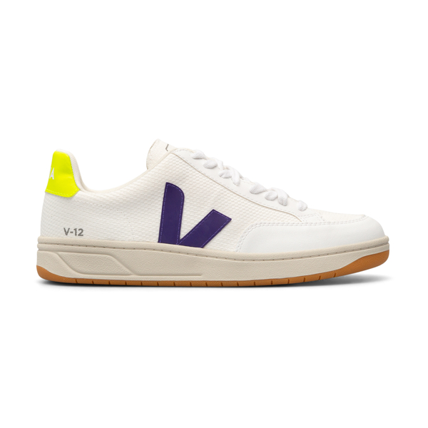 White sneakers with fluo heel                                                                                                                         Veja XD012491 back