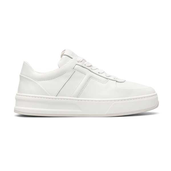 White sneakers with brand initial                                                                                                                     Tods XXM79B0BS10 back