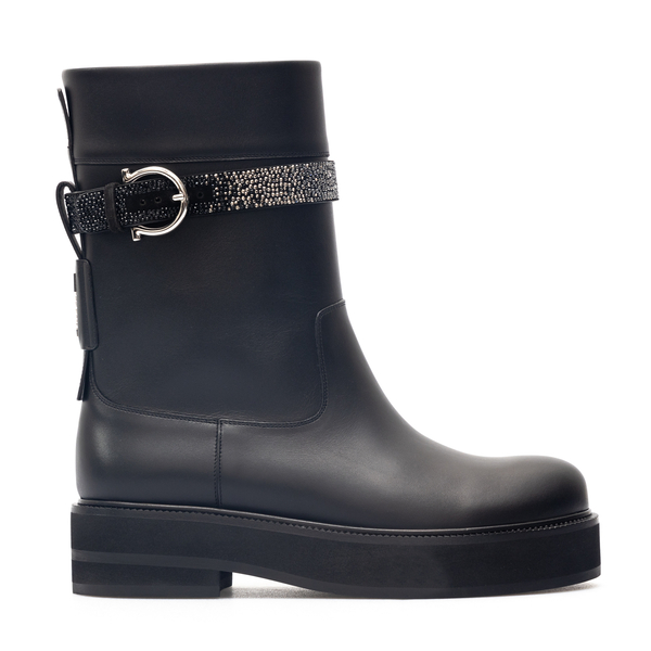 Ankle boot with buckle                                                                                                                                Salvatore Ferragamo 0748922 back