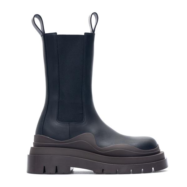 Blue slip-on ankle boots with chunky sole                                                                                                             Bottega Veneta 630297 back