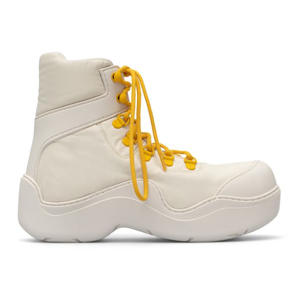 Trekking style white ankle boots                                                                                                                      Bottega Veneta 667218 back