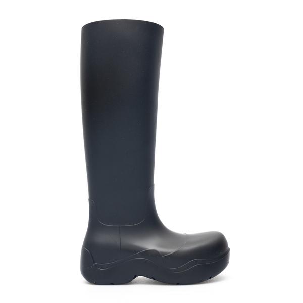 Black rubber boots                                                                                                                                    Bottega Veneta 667222 back