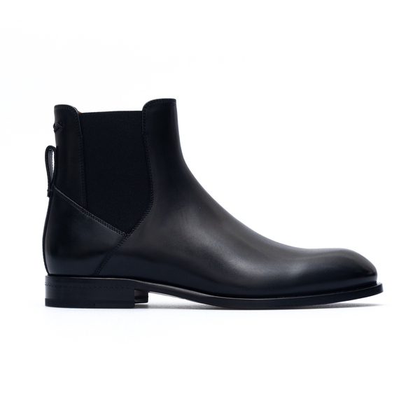 Black ankle boots with elastic side bands                                                                                                             Zegna A4373X back