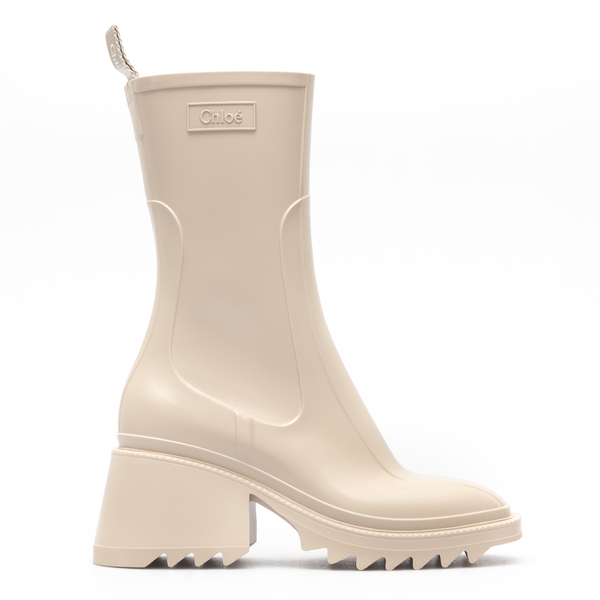 White rubber boots with zip                                                                                                                           Chloe' CHC19W239 back