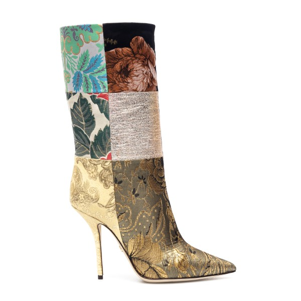 Multicolored patchwork style boots                                                                                                                    Dolce&gabbana CT0735 back