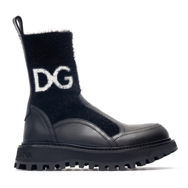Black sock ankle boots with logo                                                                                                                      Dolce&gabbana CT0835 back