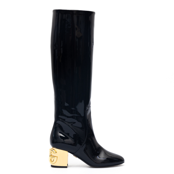 Black boots with gold heel                                                                                                                            Dolce&gabbana CU0767 back