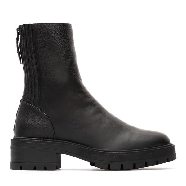 Black ankle boots with zip closure                                                                                                                    Aquazzura SBCFLAB0 back