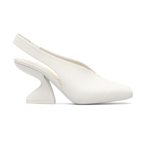 White slingbacks with sculptural heel                                                                                                                 Salvatore Ferragamo 0743745 back