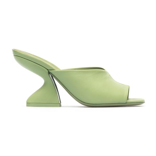 Green mules with sculptural heel                                                                                                                      Salvatore Ferragamo 0743756 back