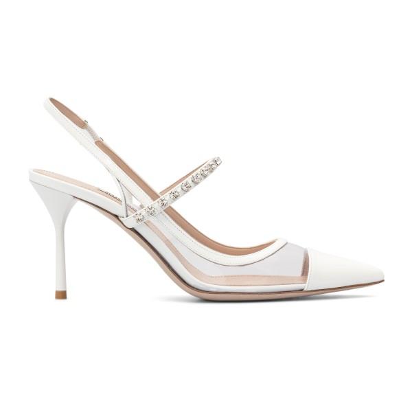White sandals with crystals                                                                                                                           Miu Miu 5I472D back