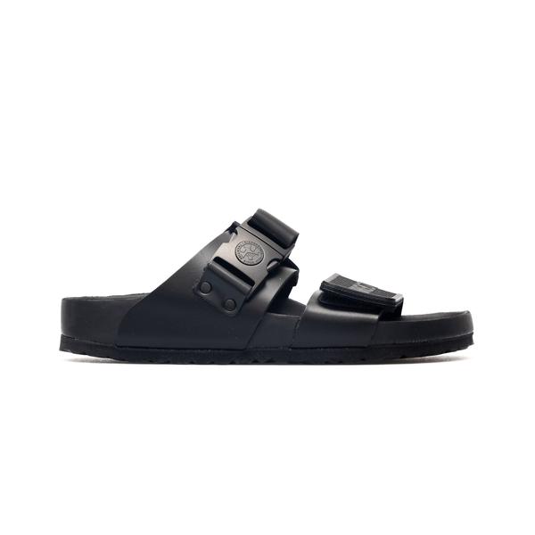 Black sandals with adjustable straps                                                                                                                  Rick Owens  X Birken BM21S6810 back