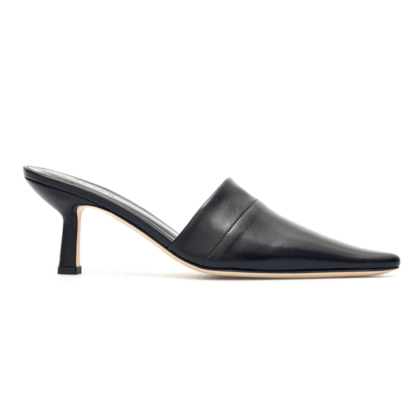 Black tapered toe mules                                                                                                                               By Far CYNTHIA back