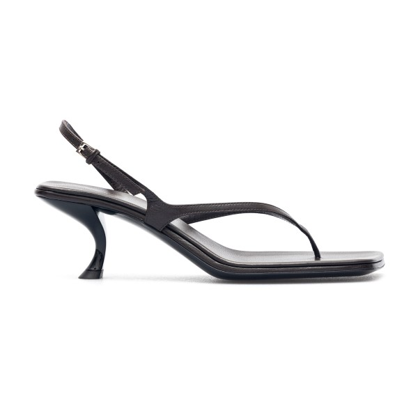 Black thong sandals with curved heel                                                                                                                  The Row F1196 back