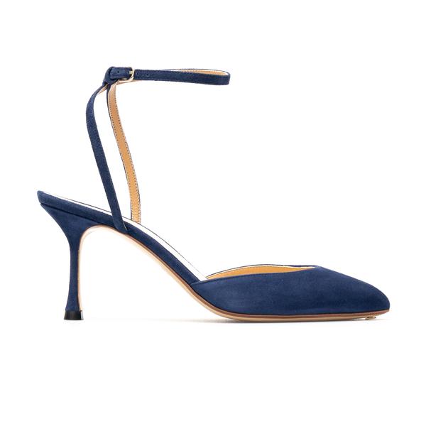 Sandali blu scamosciati con tacco                                                                                                                     Francesco Russo FR36052A retro