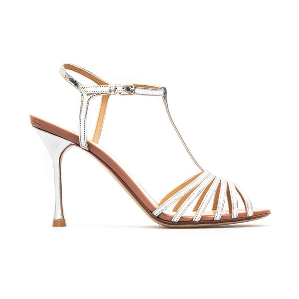 Sandali argentati con tacco                                                                                                                           Francesco Russo FR36061A retro