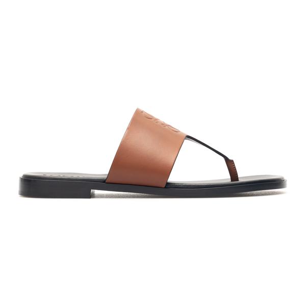 Brown thong sandals with logo                                                                                                                         Loewe Paula's Ibiza L616465X16 back