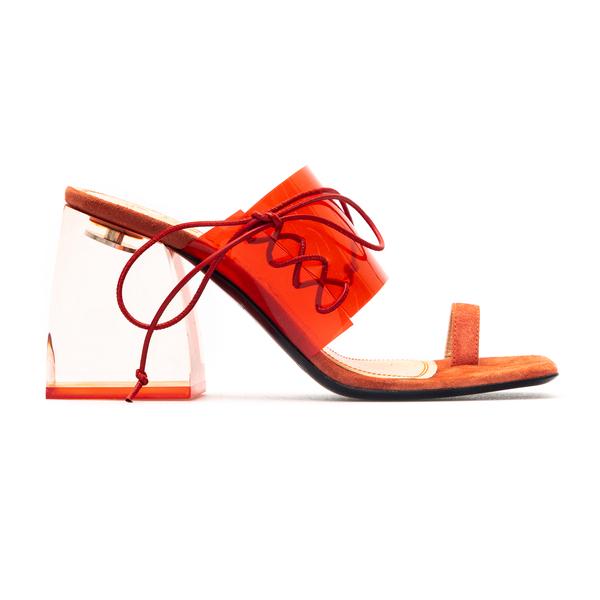Sandali in plexi arancioni                                                                                                                            Nodaleto NO5 retro