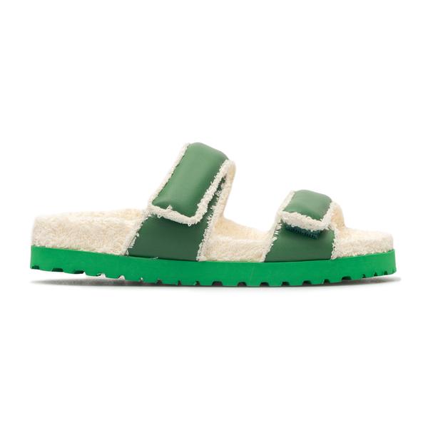 Sandali verdi con shearling                                                                                                                           Gia Couture PERNI11 retro