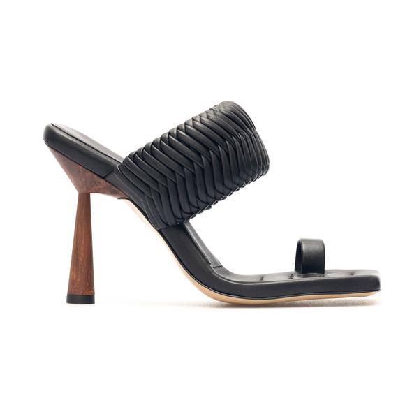 Sandali neri con motivo intrecciato                                                                                                                   Gia Couture ROSIE1 retro