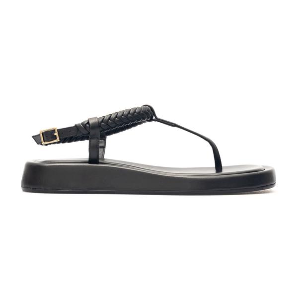 Sandali in pelle neri con intreccio                                                                                                                   Gia Couture ROSIE3 retro