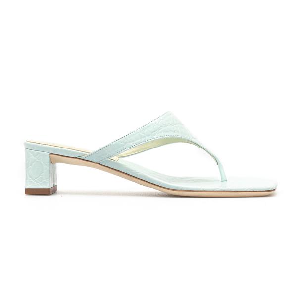 Light blue crocodile effect sandals                                                                                                                   By Far SHAWN back