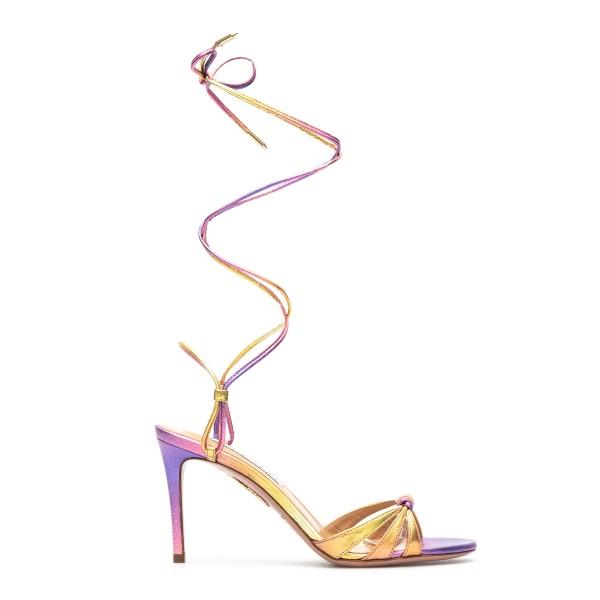 Purple sandals with lace                                                                                                                              Aquazzura SOLMIDS1 back