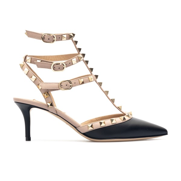 Black and pink sandals with studs                                                                                                                     Valentino garavani VW2S0375 front