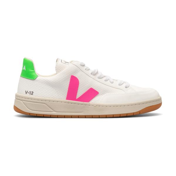 White sneakers with fuchsia logo                                                                                                                      Veja XD012498 back