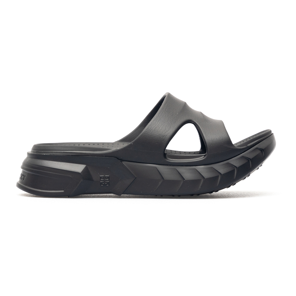 Black rubber slippers with thick sole                                                                                                                 Givenchy BE305A back