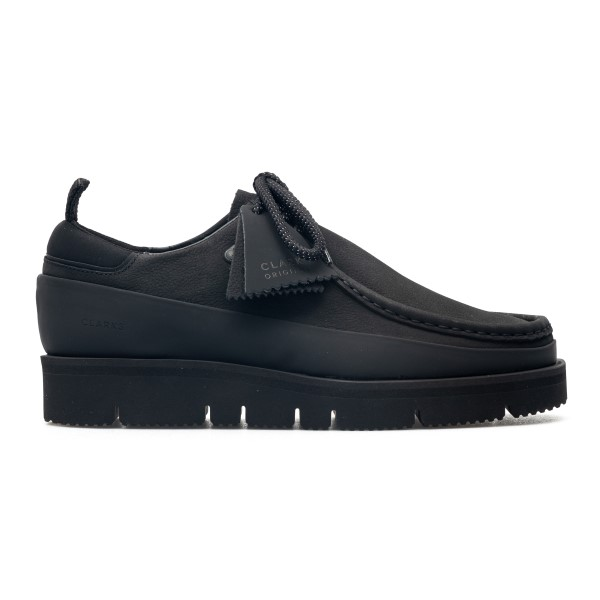 Black lace-up shoes with logo plate                                                                                                                   Clarks Originals 261623357 back