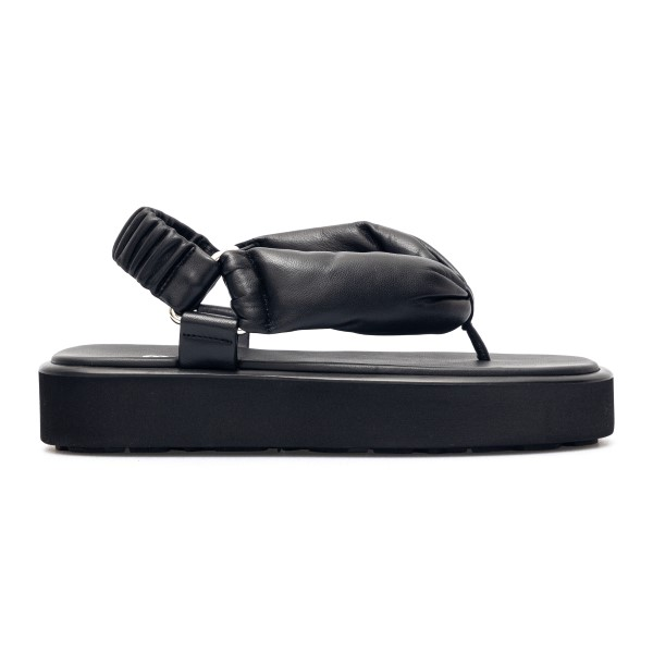 Black padded sandals                                                                                                                                  Miu miu 5Y451D front