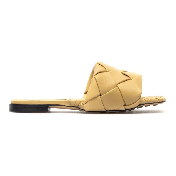 Braided beige slippers                                                                                                                                Bottega Veneta 608853 back