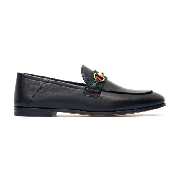 Black loafers with gold horsebit                                                                                                                      Gucci 631619 back