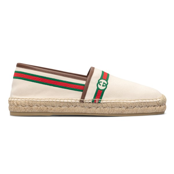 White espadrilles with two-tone band                                                                                                                  Gucci 645103 back