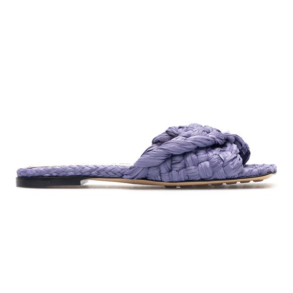 Woven purple raffia slippers                                                                                                                          Bottega Veneta 652860 back