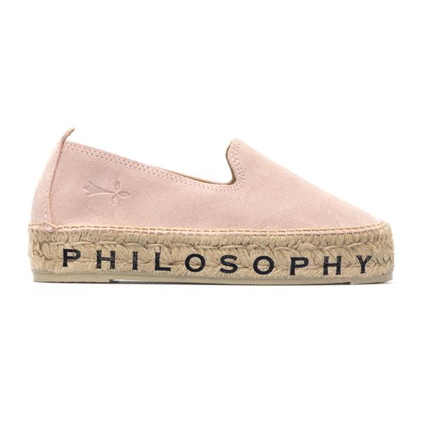 Pink suede espadrilles                                                                                                                                Philosophy A6001 back