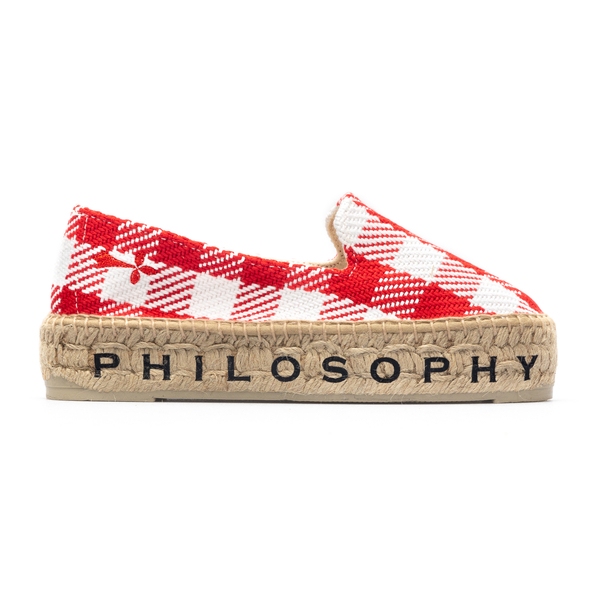 Red and white checked espadrilles                                                                                                                     Philosophy A6001 back