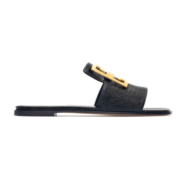 Leather slippers with golden plate                                                                                                                    Givenchy BE303A back