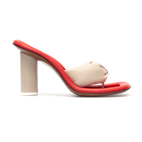 Beige and red sandals with heel                                                                                                                       Ambush BWIH001S21LEA0016100 back